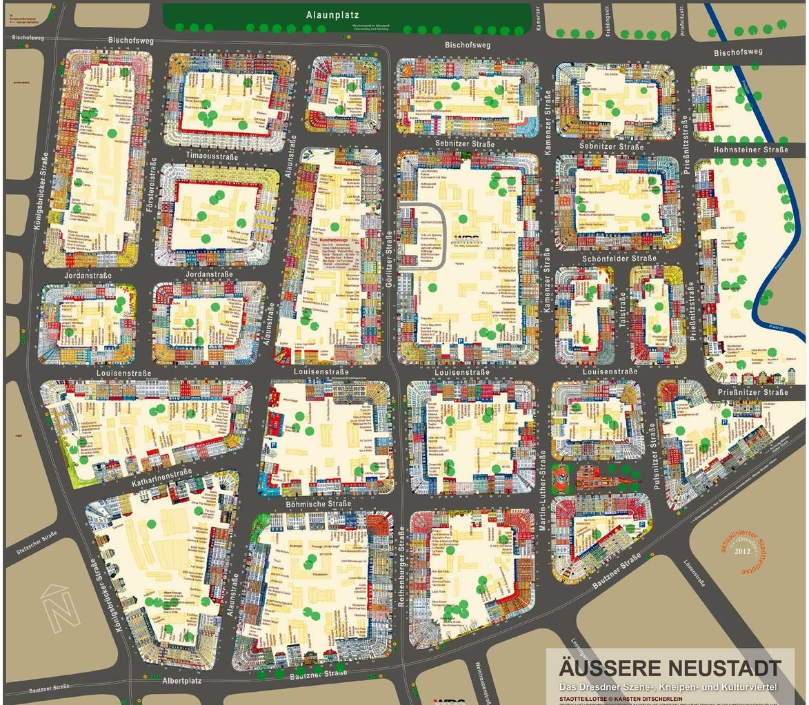 karte dresden neustadt streets in the Kiez / Straßen im Kiez – Neustadt Art Festival